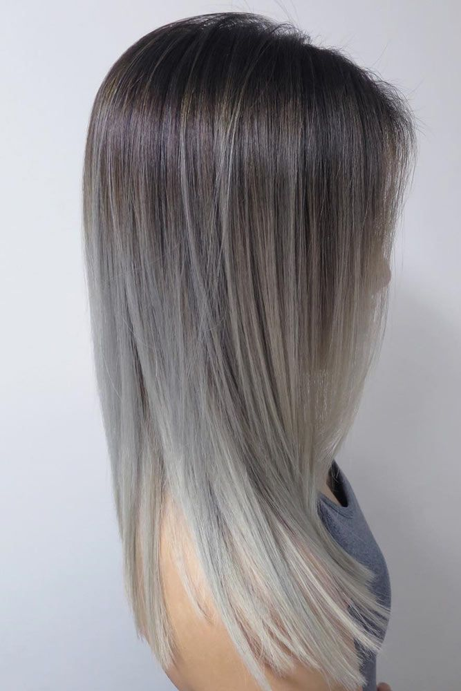 27 try grey ombre hair this season cheveux coiffures et - Ombre et hair ...