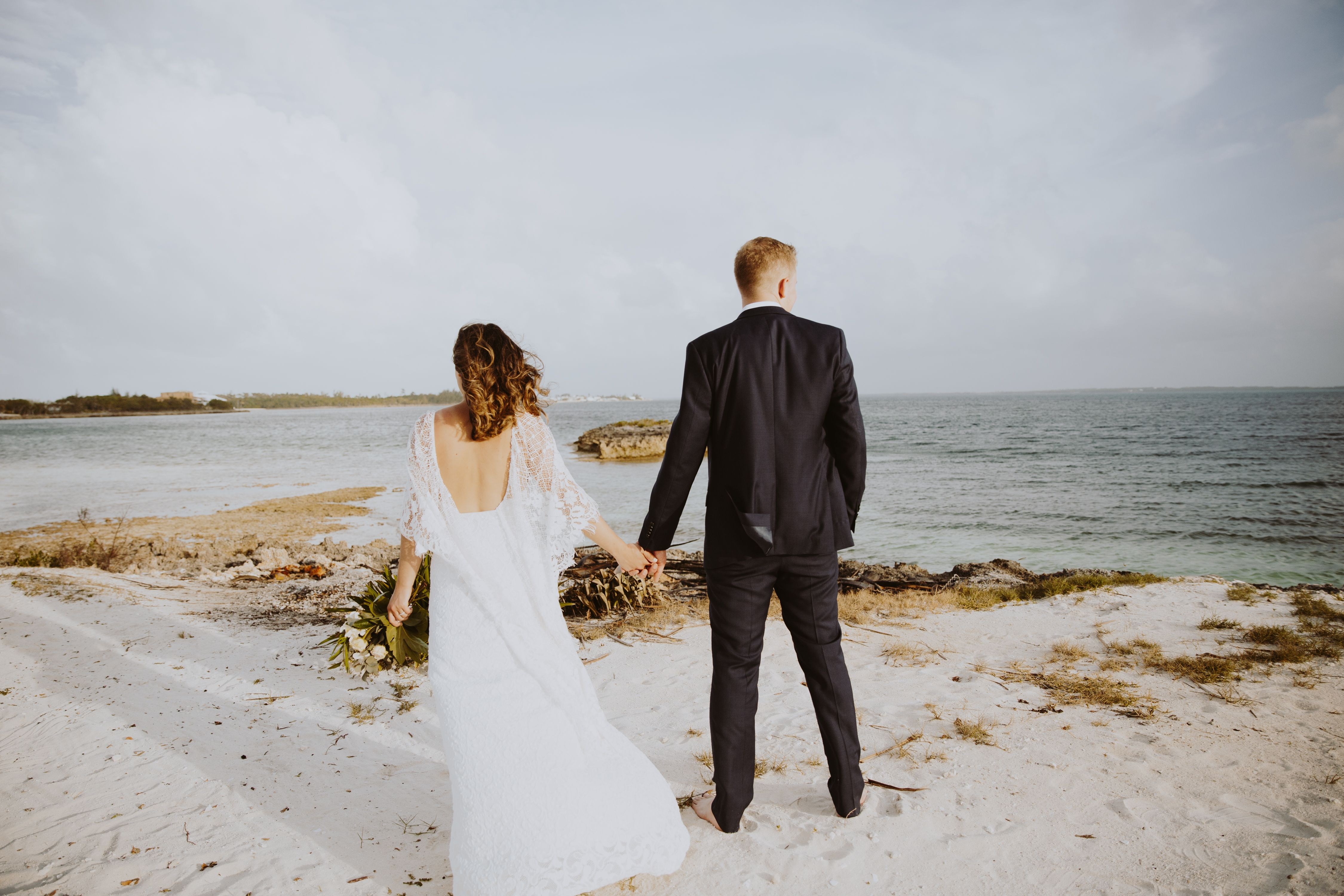 Caribbean wedding dress  A Romantic Beach Wedding in Green Turtle Cay In Bahamas