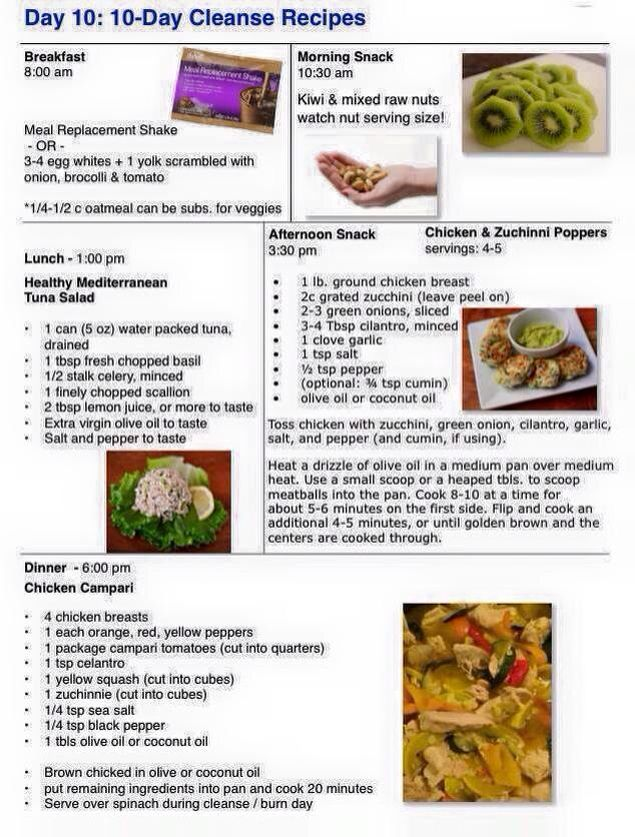 Day 10 Ideas For The Cleanse Advocare Recipes Cleanse