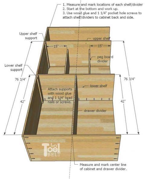 Plywood Garage Cabinet Plans: Garage Hand Tool Storage Cabinet Plans