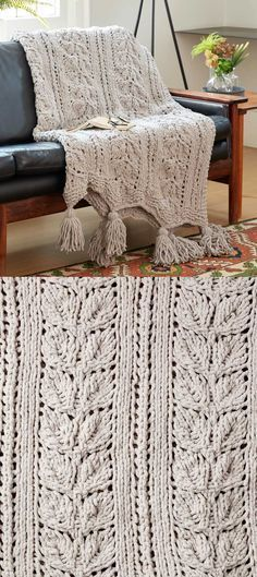 Free Knitting Pattern For A Rose Leaf Blanket Fun Knitting