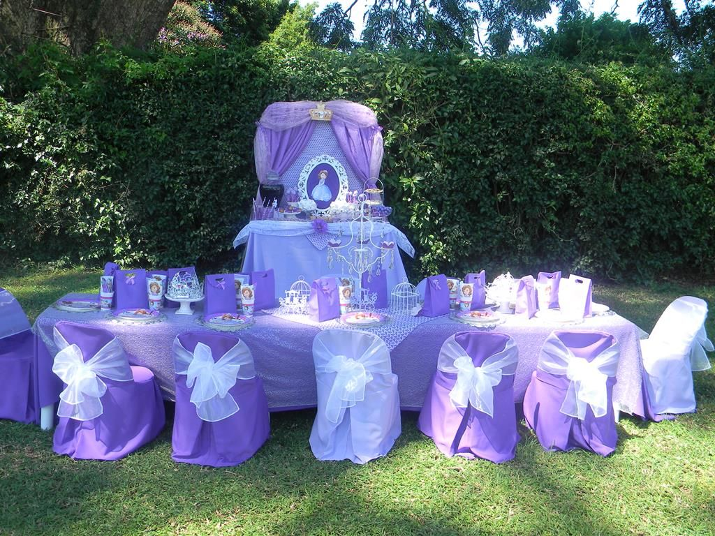 Sofia the First kiddies party set-up by Co-Ords Kidz Party Boutique ...