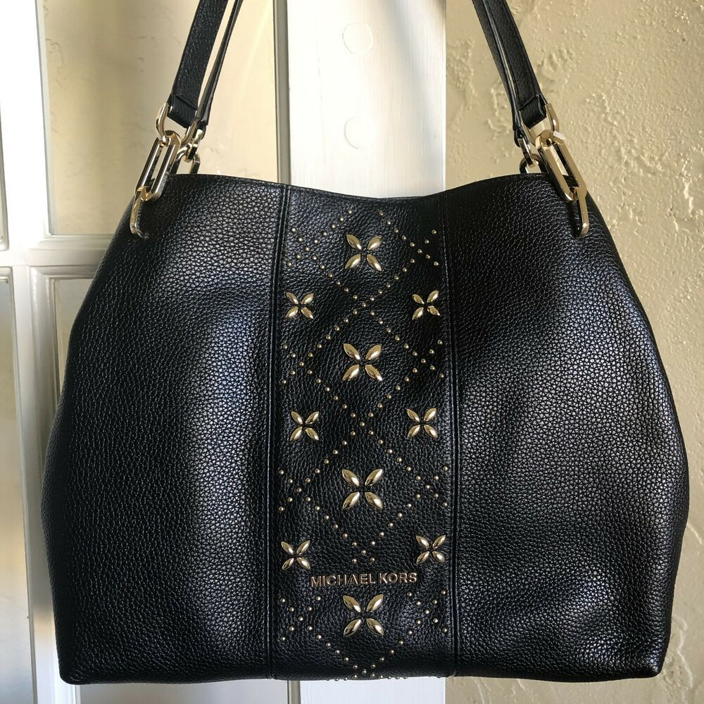 6b496b7231e635 NWT Michael Kors KARLA Medium Top Handle Embossed Leather satchel Crossbody  Bag | eBay