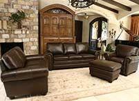 Abbyson Living Braylen Top Grain Leather Reclining Sofa