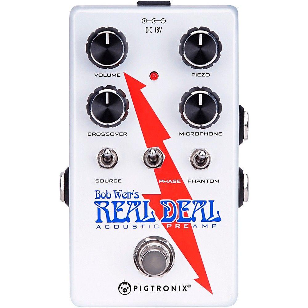 Pigtronix Bob Weir S Real Deal Acoustic Guitar Preamp Pedal Acousticguitar Guitar Tuners Acoustic Guitar Learn Guitar