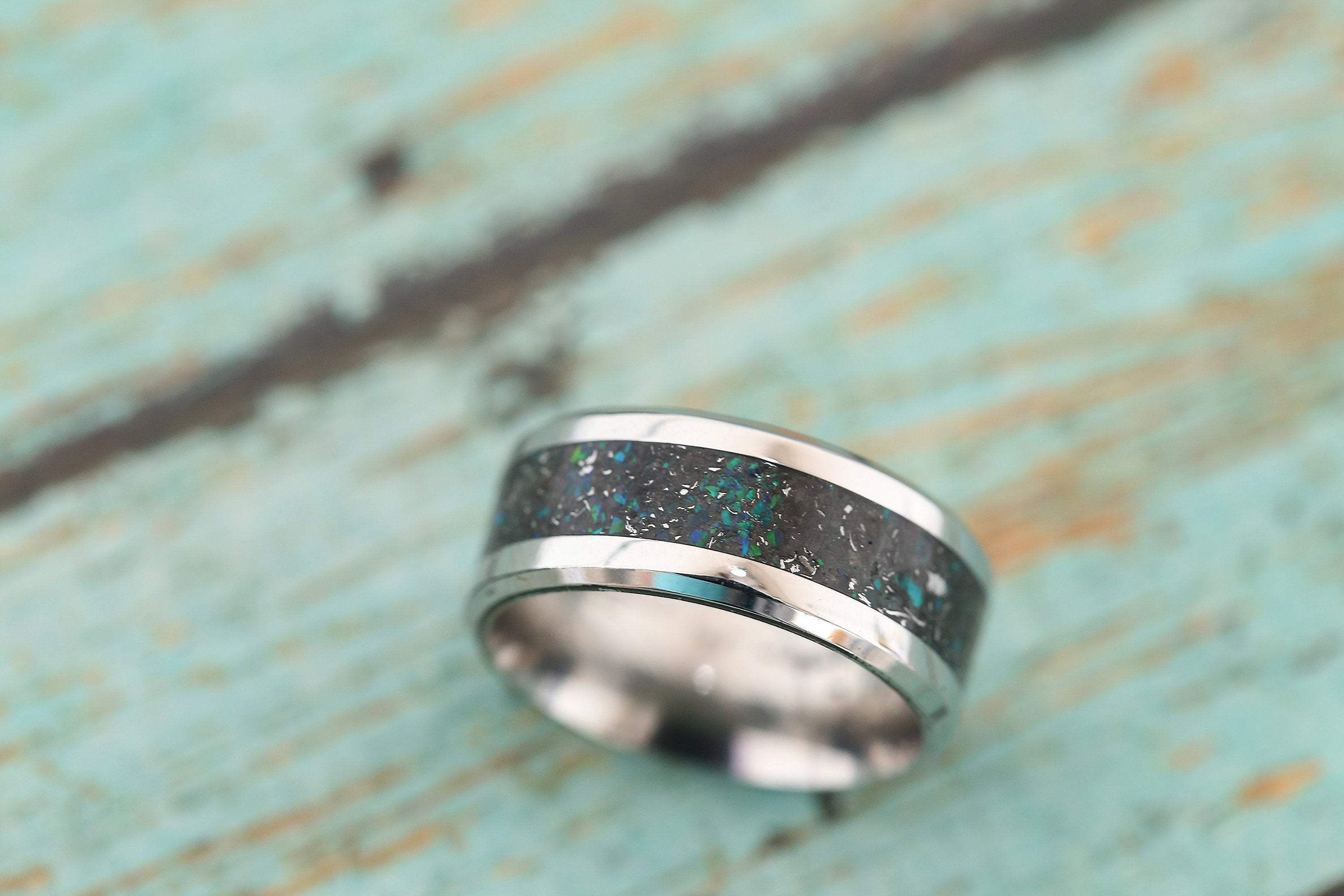 Pet Ash Ring Oval Gem Ring Pet Ashes SALE- SIZE 4- Cremation Ring Pet Cremation Jewelry