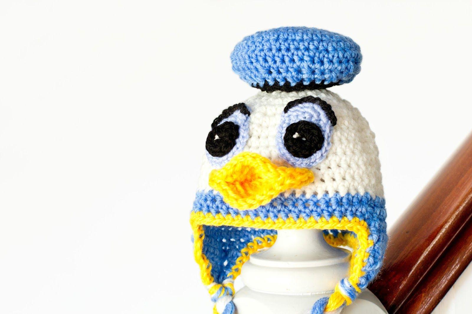 Donald Duck Inspired Baby Hat Crochet Pattern | Gorro tejido y Tejido