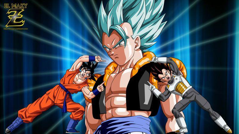 Gogeta Super Saiyan Blue The Ultimate Fusion By El Maky Z Super Saiyan Blue Dragon Ball Super Goku Goku Vegeta Fusion