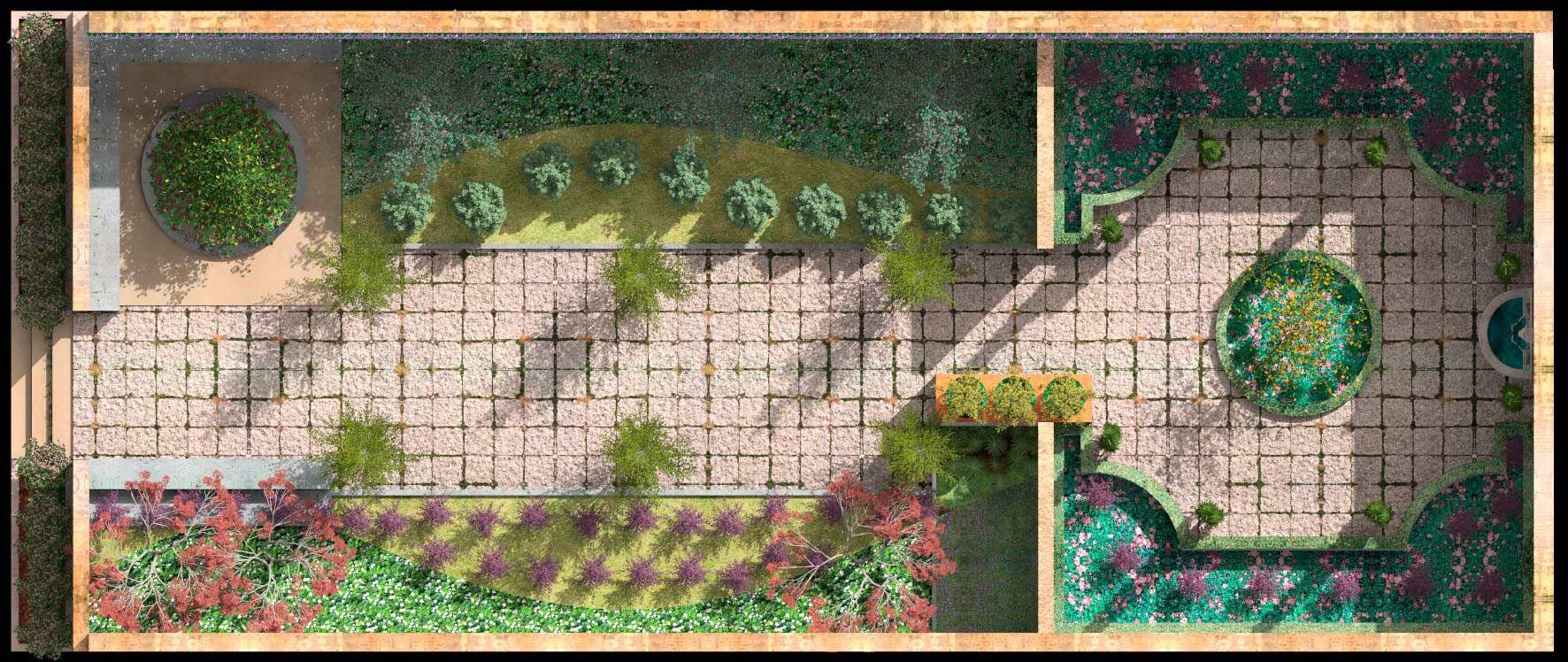 Jardin de los parterres dise o en planta tecnicas de - Software diseno jardines ...