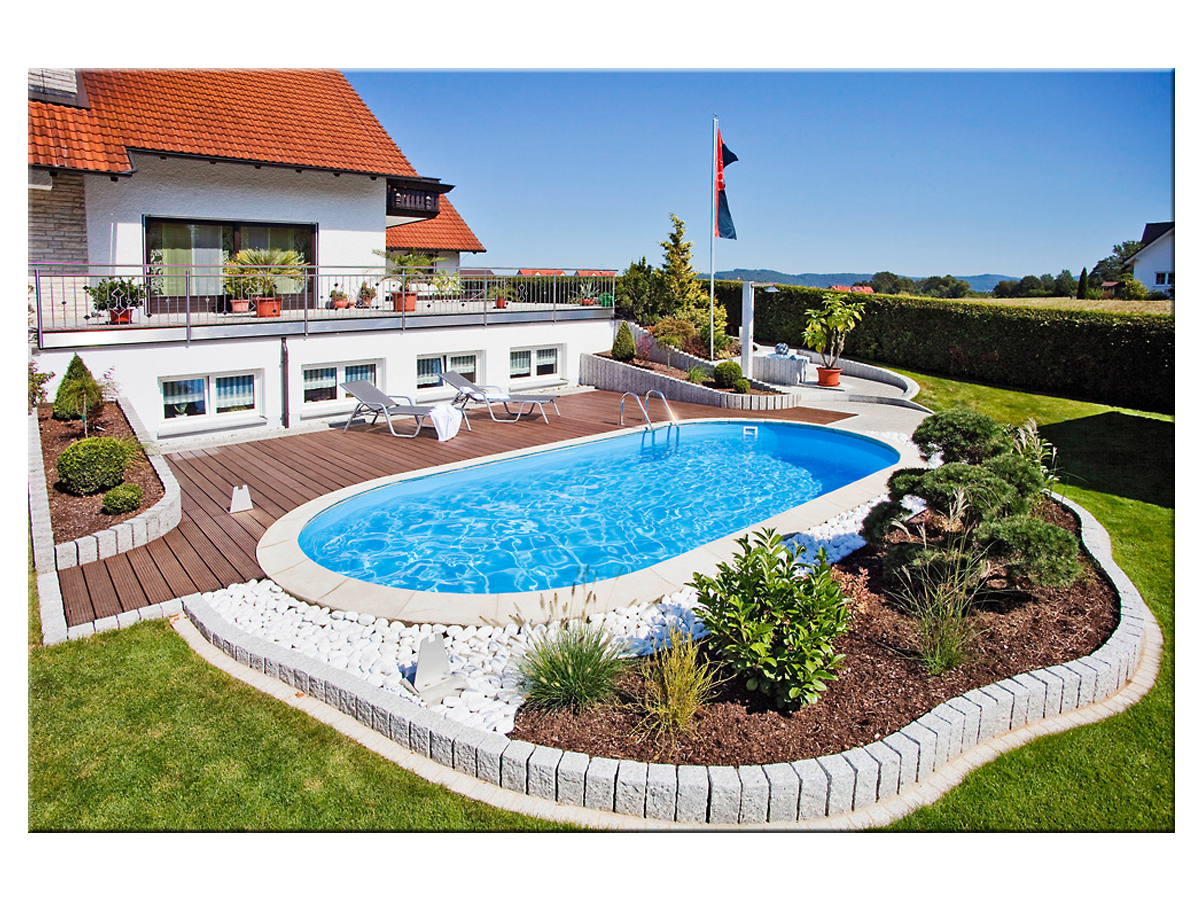 Oval Pool Bauen Video Styropool Ovalform Becken 1 50m Tief 3 50x6 00m Pools