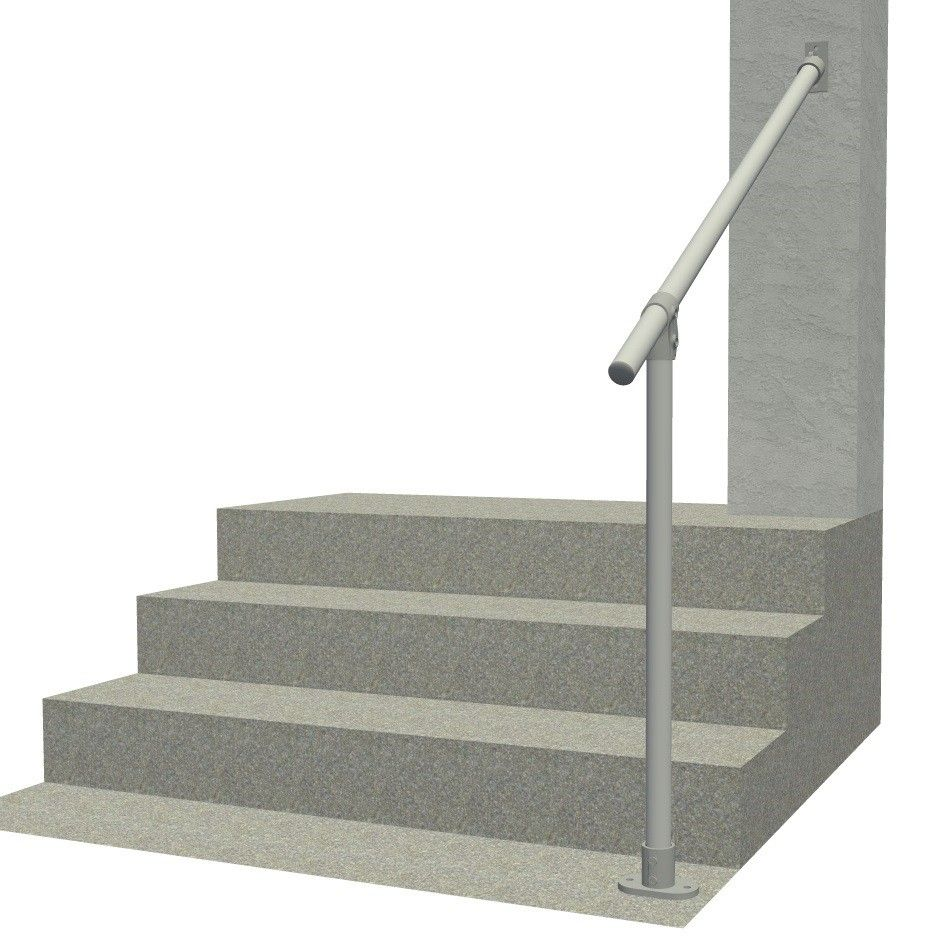 Best Hybrid 29 C58A Aluminum Outdoor Stair Railing Easy Install Handrail Simplified Building In 400 x 300