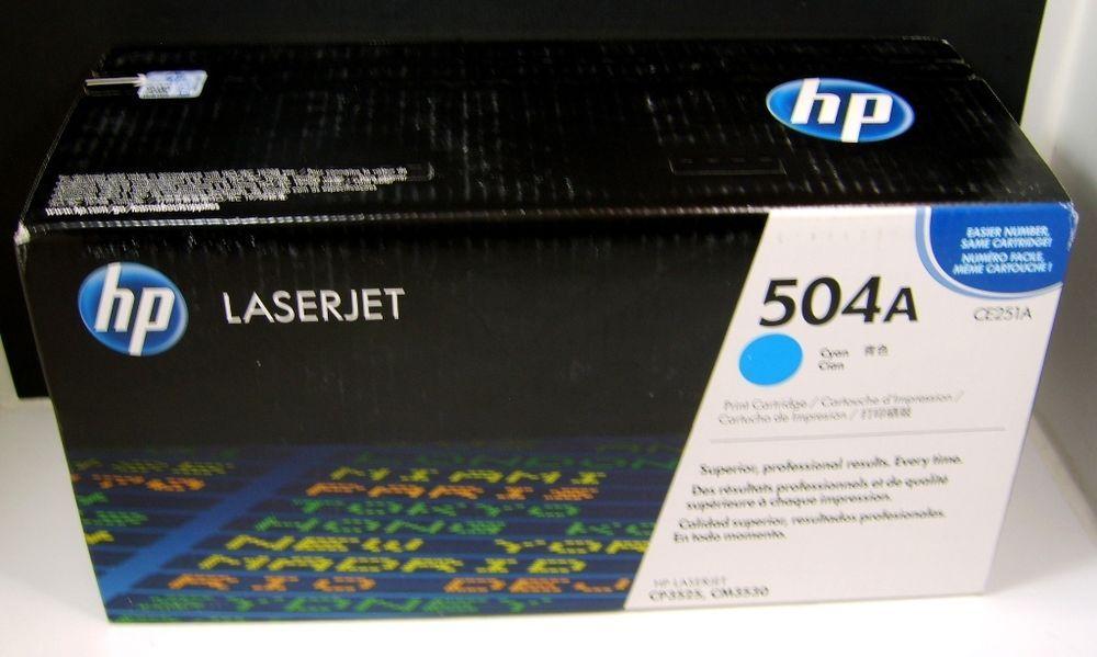 NEW HP CE251A Cyan 504a Toner Cartridge Genuine SEALED BOX