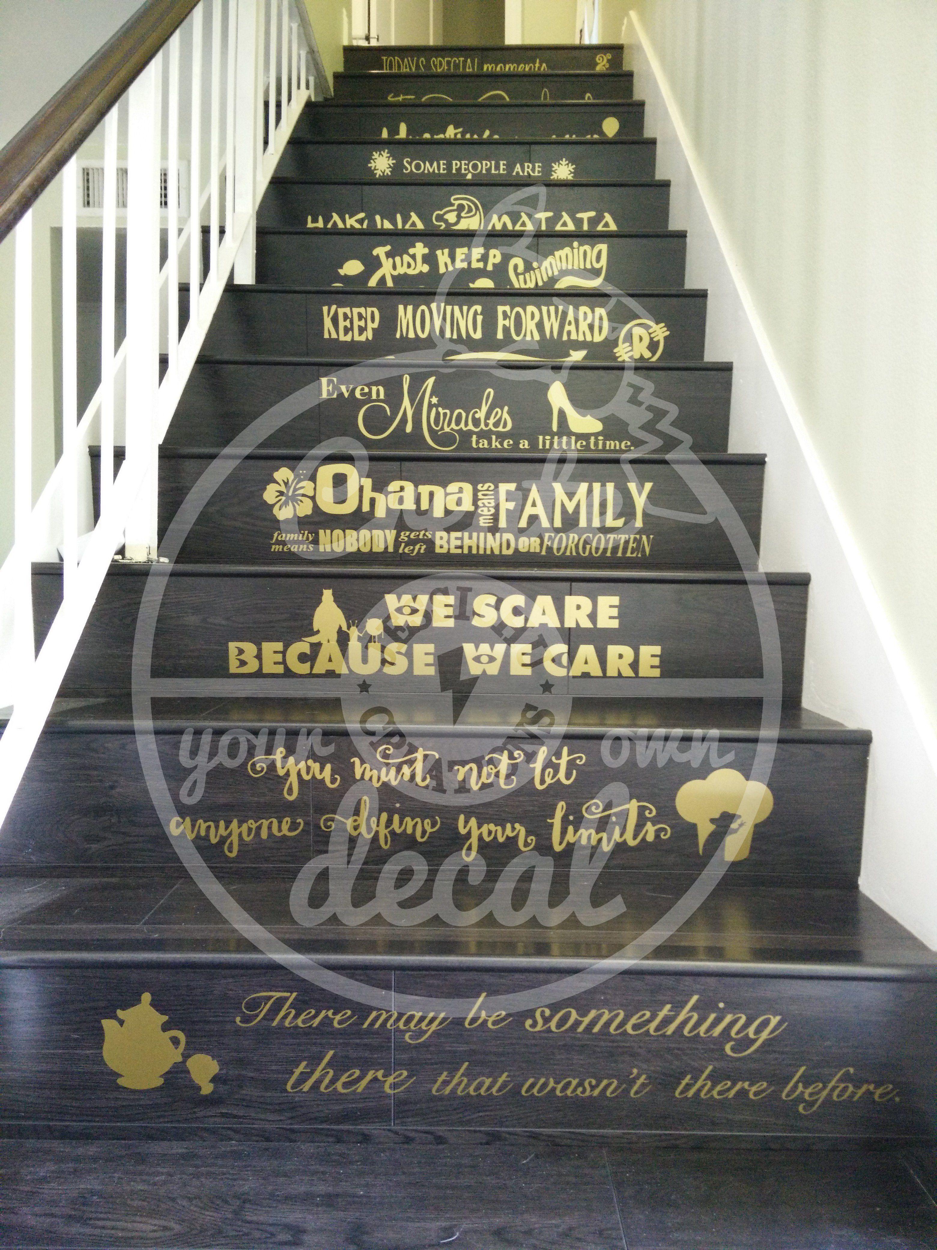 disney quotes stairs vinyl decal home decor disney home decor