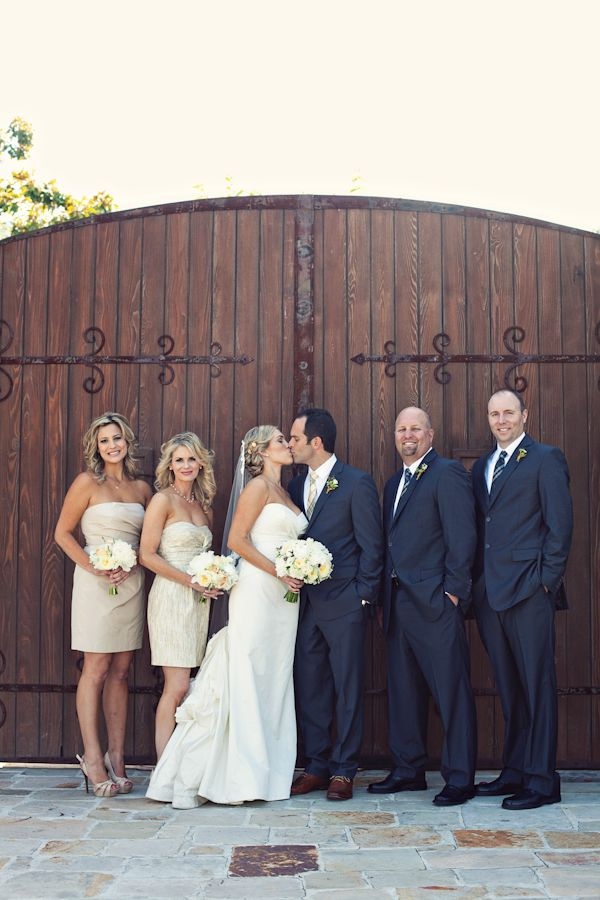 Ivory And Mustard Spanish Inspired Wedding Inspired By This Tan Bridesmaid Dresses Wedding Wedding Inspiration