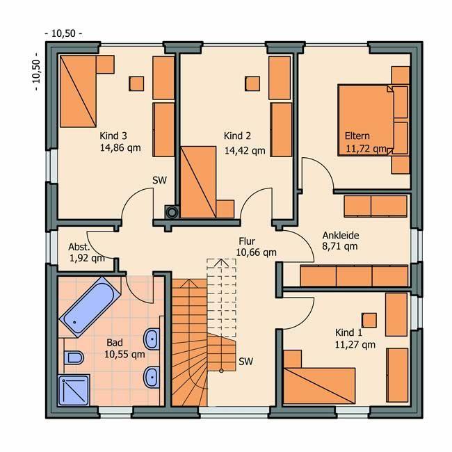 Grundriss bungalow 5 zimmer mit garage (mit Bildern
