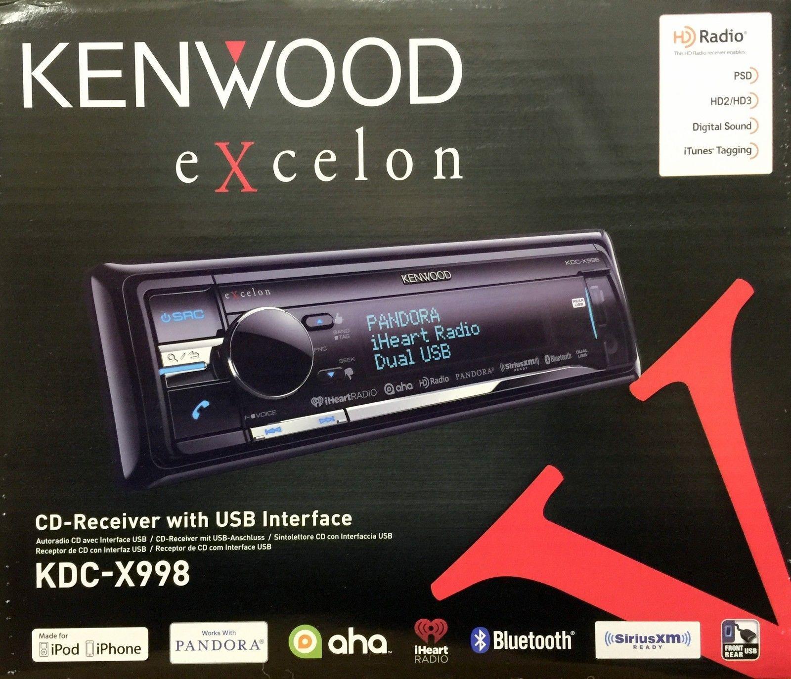Car Audio In-Dash Units: New Kenwood Kdc-X998 Single Din Bluetooth ...