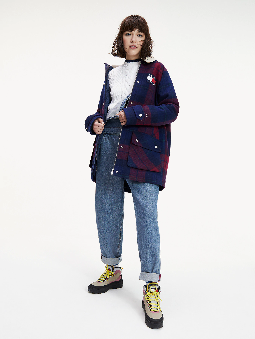 Check Corduroy Coat Blue Tommy Hilfiger Tommy Hilfiger Coat Coats For Women Outerwear Jackets [ 1333 x 1000 Pixel ]