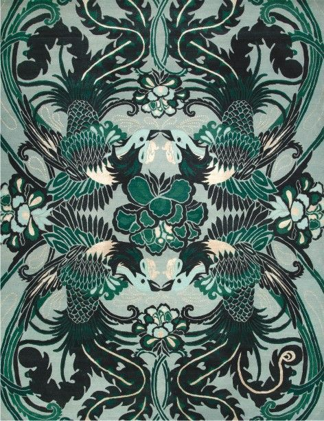 Night Bird   From Catherine Martinu0027s New Great Gatsby Inspired Deco Rug  Collections   Designer Rugs
