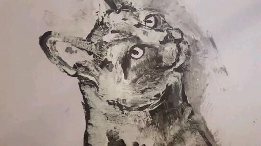 Watch me paint this Russian Blue on my YouTube channel. #catlovers #pureart #russianblue #russianbluecat #russianblueart #petportraits  #petartist