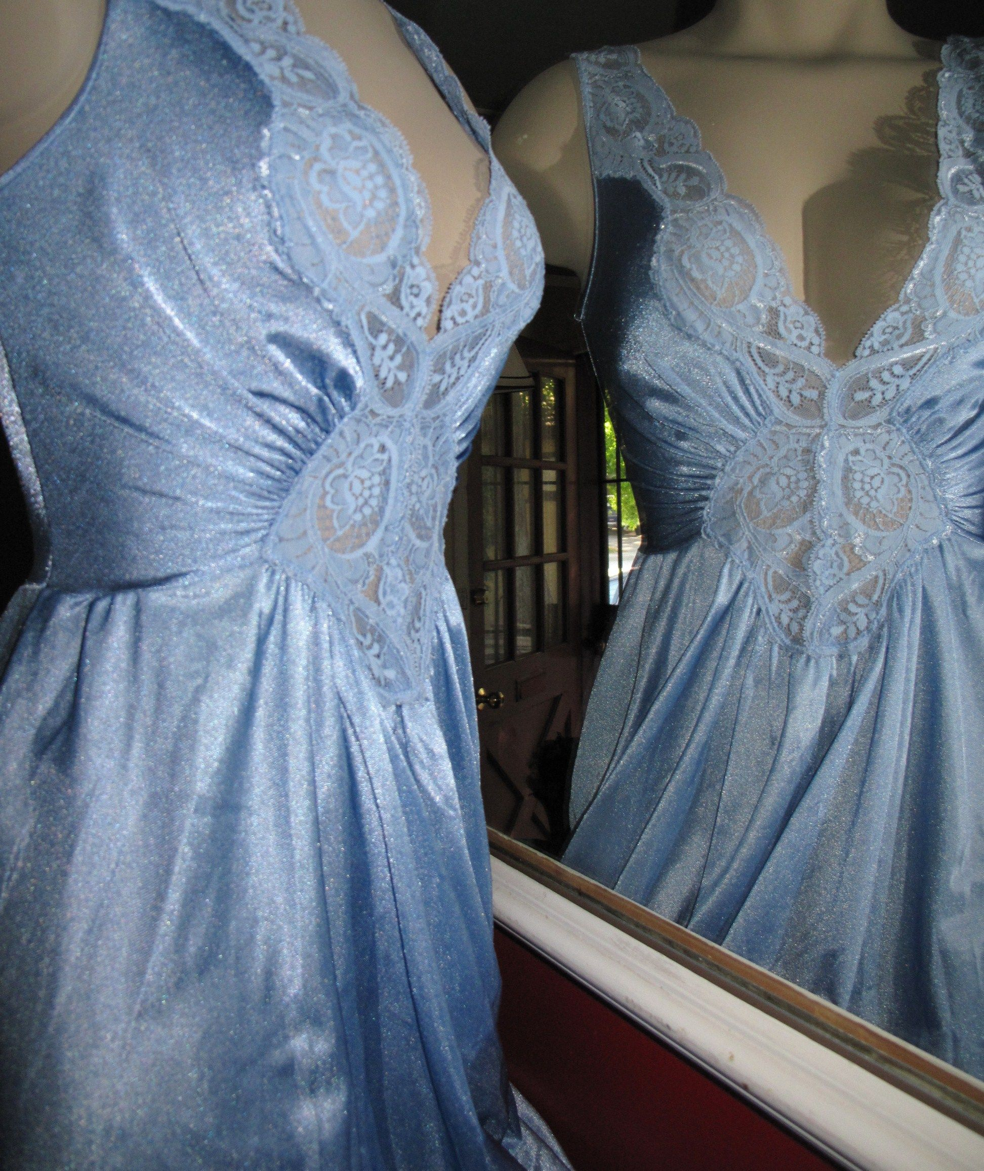 Blue Lace Vintage Olga Gown | Beautiful Formfit OLGA Gowns & More ...