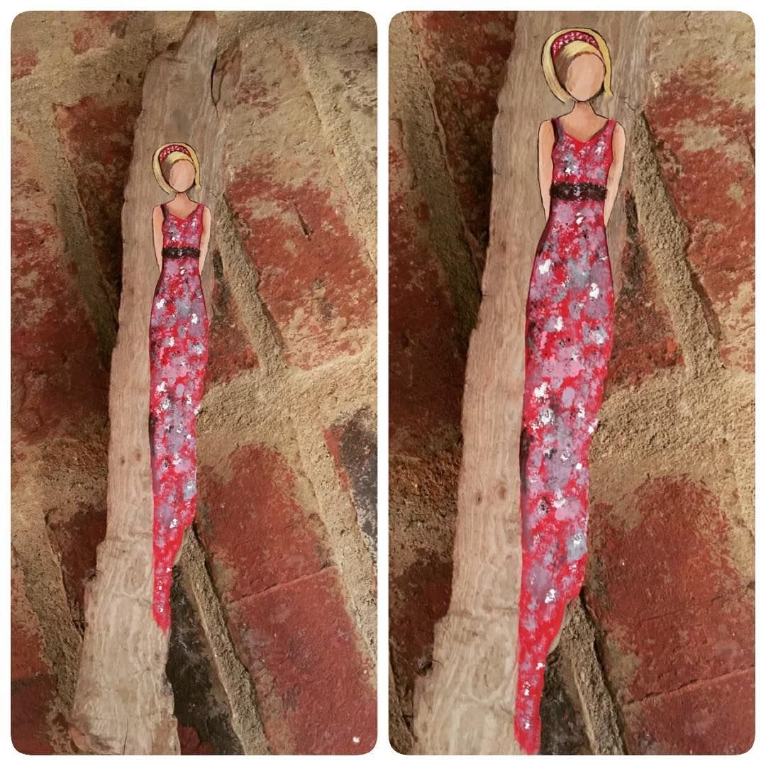 "I found this beauty in another pretty piece of driftwood.  The driftwood piece is 17"" long. #beauty #driftwood #painting #girl #reclaimedwood #handmadeisbetter #taterbuggin #handmade #art #decor #buyhandmade #memphis #tennessee #choose901 #homedecor #thelovelyhandmade #craftcurate #ilovememphis #creativelifehappylife #creatorcommunity #supportsmallbusiness #shopsmall #lovemymakers #shopsmalllove #handmadehomegoods #thehivehandmade #bestupcycler #makersmovement"