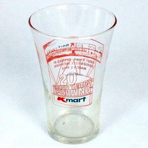 Vintage 1980s Kmart 20 Year Anniversary Commemorative Drinking