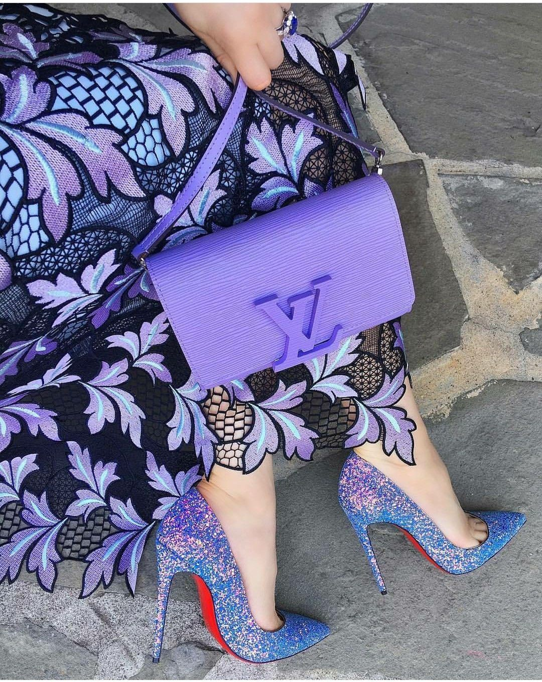Purple dress with shoes  Pin by Raihana Noori on PURPLE WHISPERS  Pinterest  Whisper and