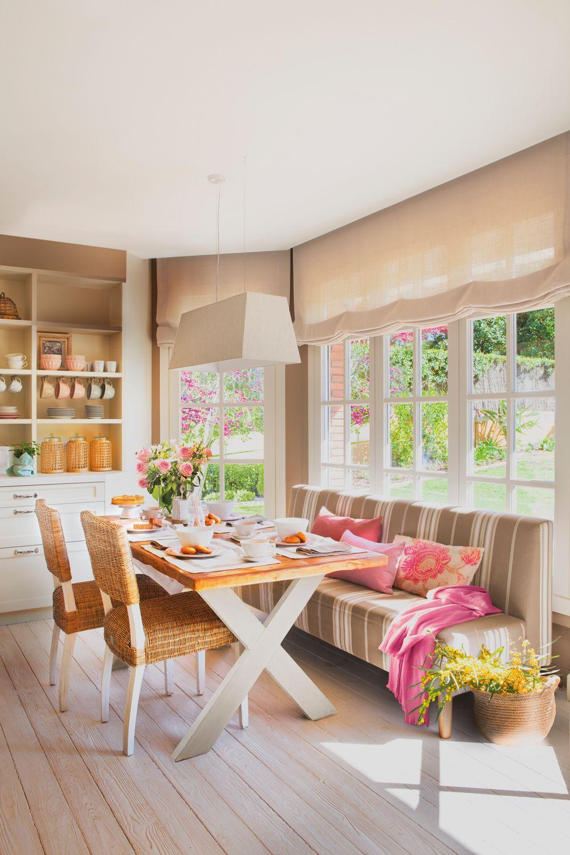 Cuesti n de color cocinas acogedoras sillas comedor - Bancos para comedor ...