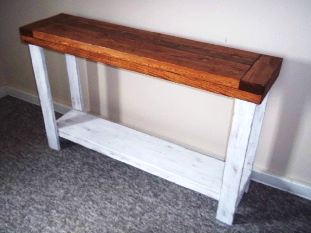 Distressed Rustic Side Table Sofa Table Side Table Entry Etsy Rustic Side Table Shabby Furniture Farmhouse Console Table