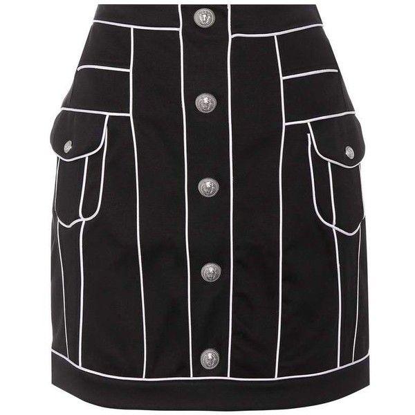 Cotton miniskirt Balmain Cheap Sale High Quality 79zNFkDywi
