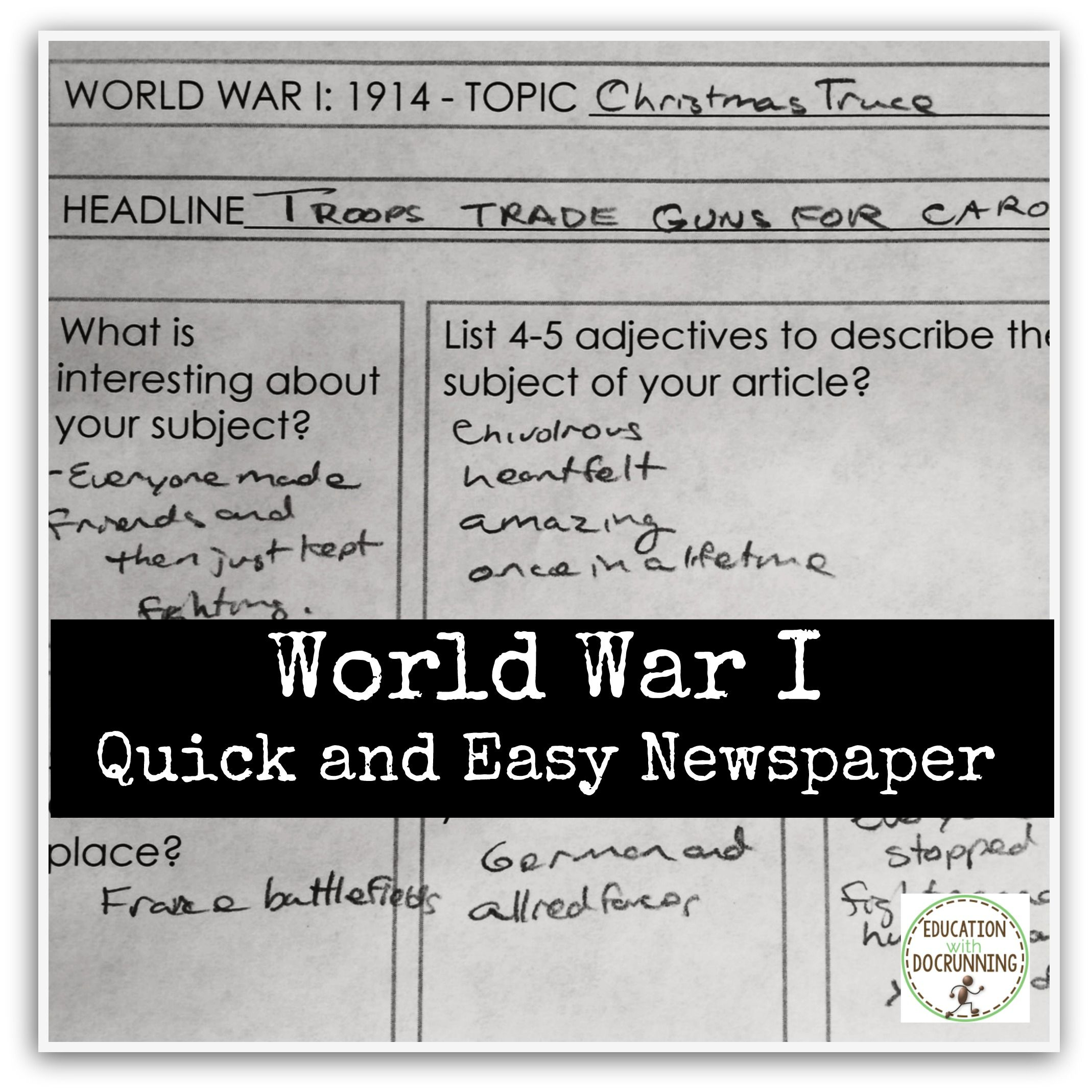 World War 1 Project Newspaper Bundle