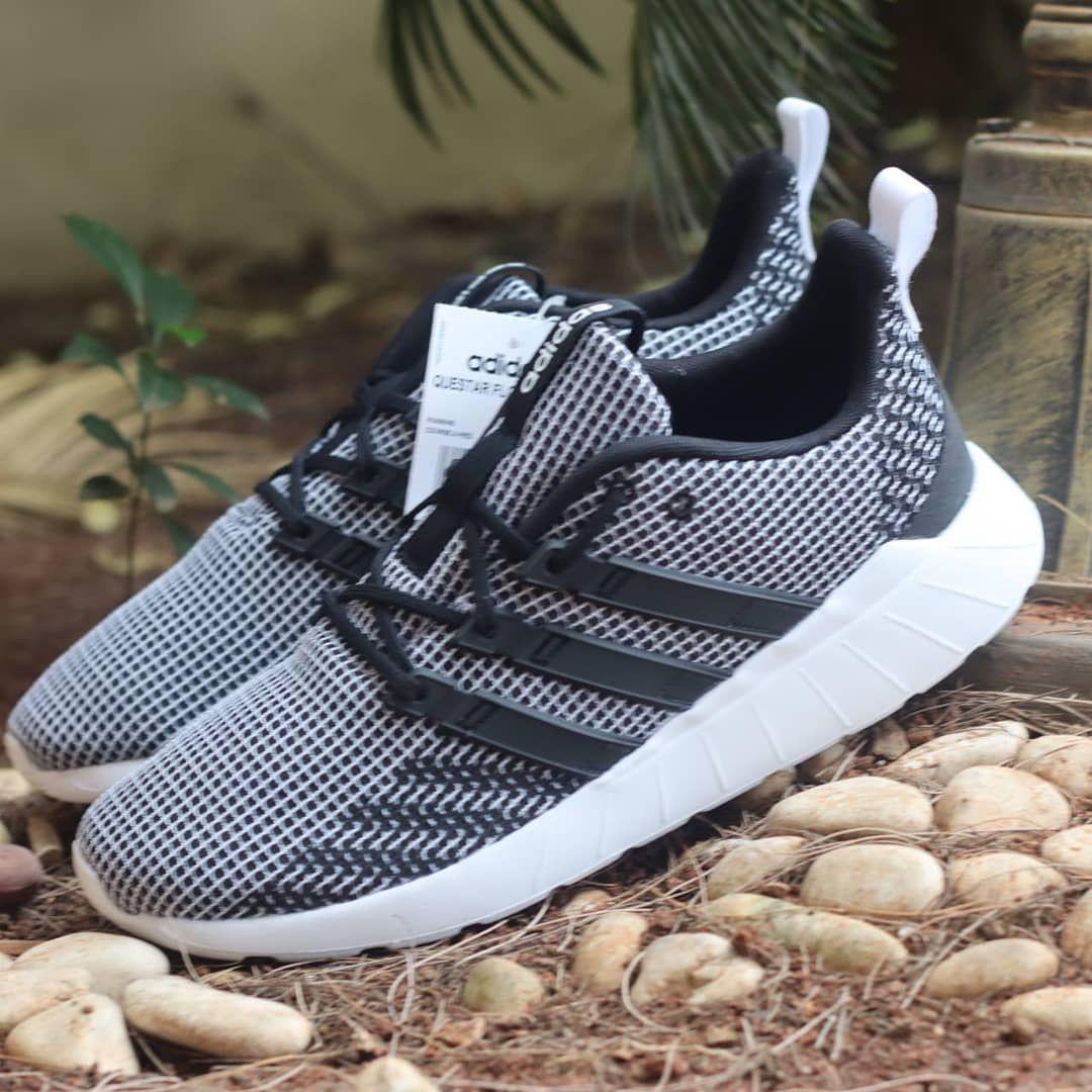 nivel binario Allí  RESTOCK GUYS..!! . Adidas Questar Flow Core Black Web List Black (BNWB) .  Size : 39 1/3 = 24.5 cm 40 2/3 = 25.5 cm 42 … | Adidas sneakers, Adidas  tubular, Sneakers