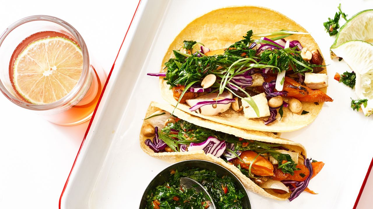 Photo of Root Veggie Tacos with Cilantro Salsa Verde – barre3
