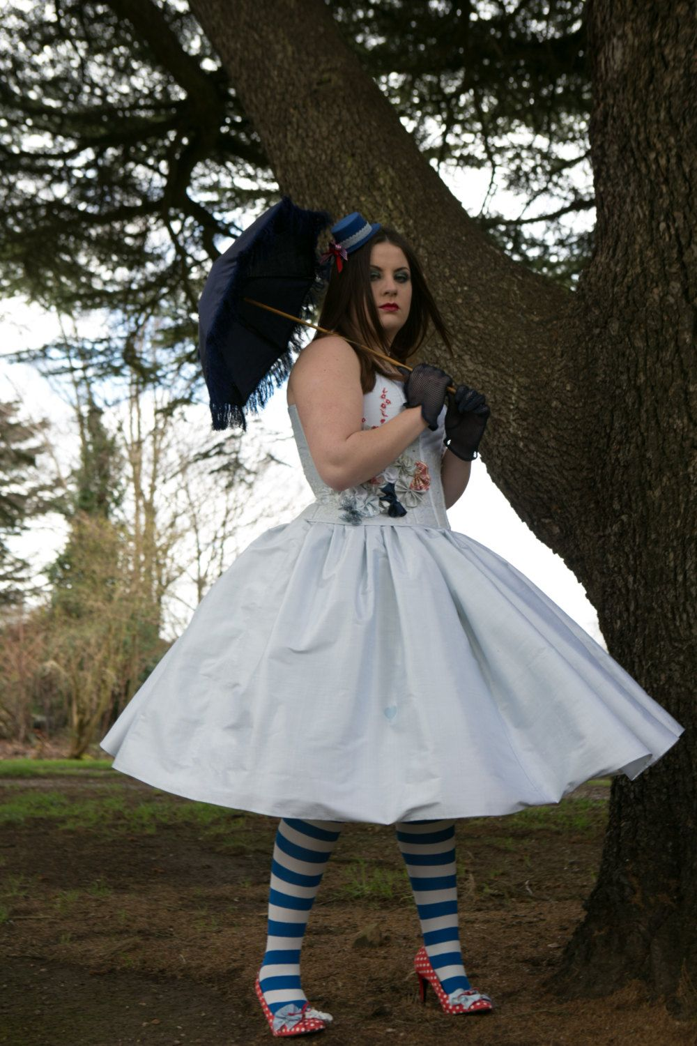 Alice in wonderland short pale blue wedding, prom costume dress ...