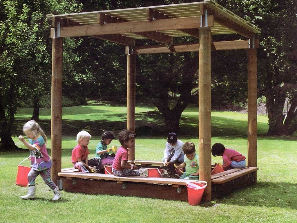 our sand box shade shelter is a great addition to any park home