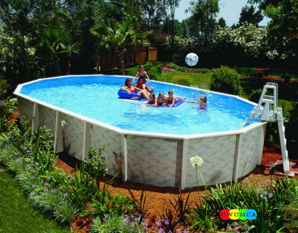 Swimming Pool Architecture Amaze Above Ground Swimming Pools Design With Beautiful Garden Around