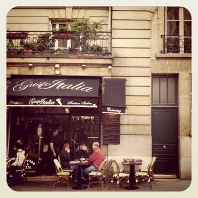 pizza on Rue Grenelle in Paris. One day... one day...