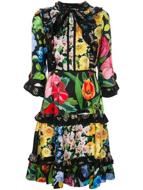 ecb0a37f5 Gucci Floral Print Dress for $3,400. Buy Gucci Floral Print Dress with Fast  Global Delivery, New Arrivals