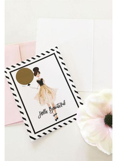 Hello Beautiful Scratch Off Card Set of 4 EB3186