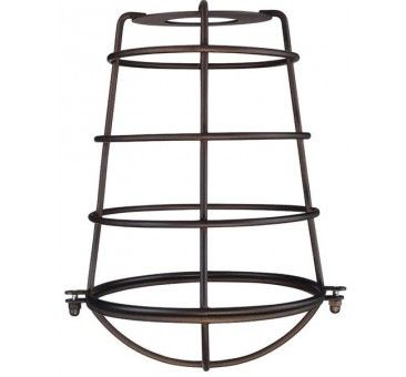 Westinghouse 85033 Cylindrical Metal Cage Shade Oil Rubbed Bronze Finish Metal Shades Light Accessories Fixtures