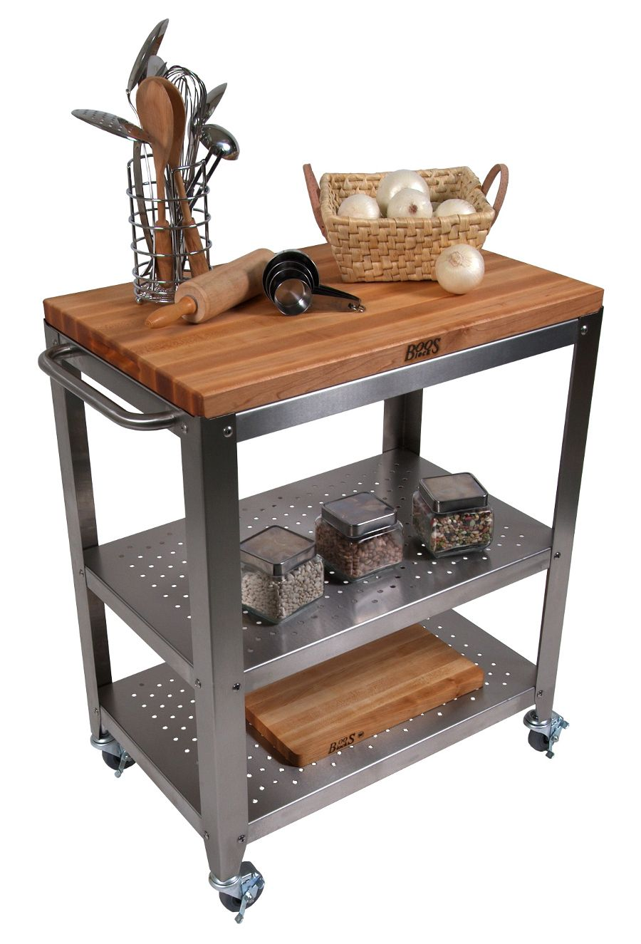 Kitchen Cart Decor Butcher Blocks