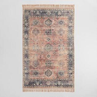 Persian Style Alma Indoor Outdoor Rug with Backing #outdoorrugs