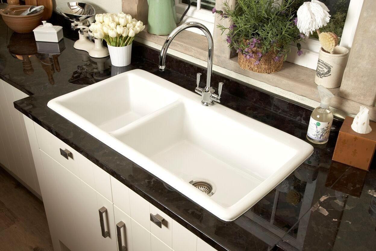 Elegant Picture Of Ceramic Kitchen Sinks Pros And Cons Interior Design Ideas Home Decorating Inspiration Moercar Sink Porcelain