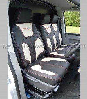 VW Transporter T6 R Line Waterproof Heavy Duty CAPTAIN SEATS Seat Covers Black