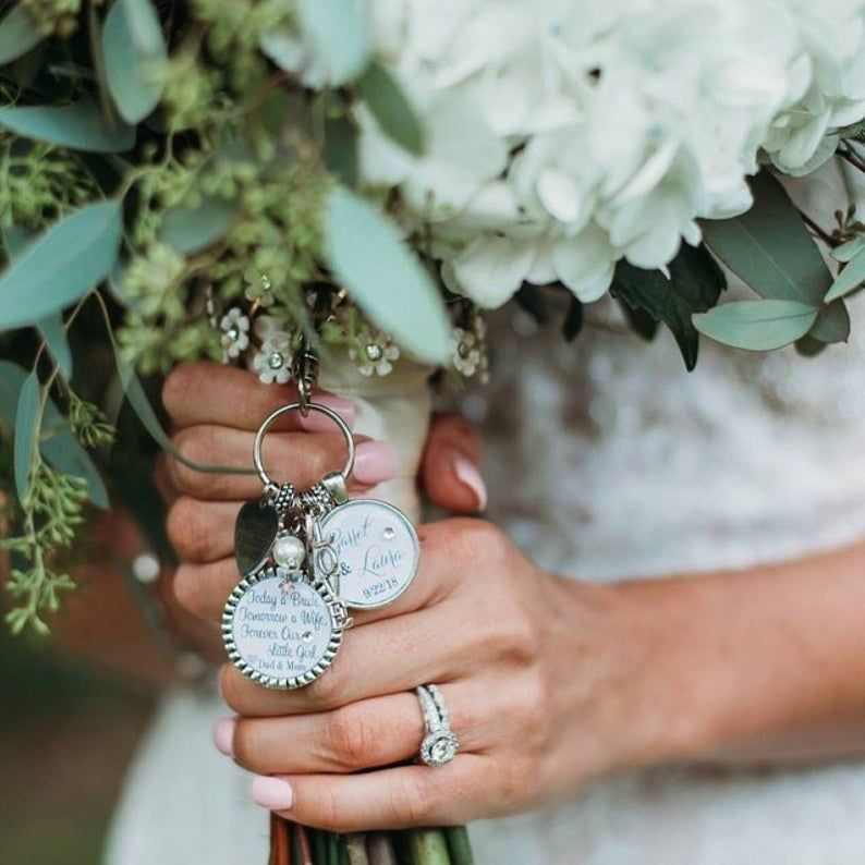 Future daughter in law gift wedding bouquet charm giving