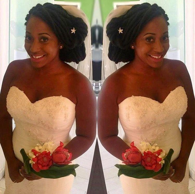 Bride With Faux Locs Naturalhair Fauxlocs Protectivestyles