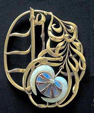 Art Nouveau pin by  Philippe Wolfers