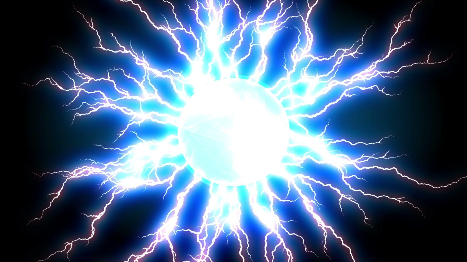 Blue Lightnings Plasma Ball Abstract Video Footage Stock Footage