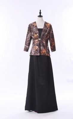 dabb0cc362809 Elegant Floor-length Camo Mother of the Bride Dress with Matching Jacket
