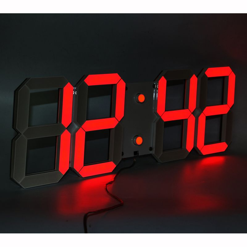 Large Display led wall clock with remote control countdownup timer